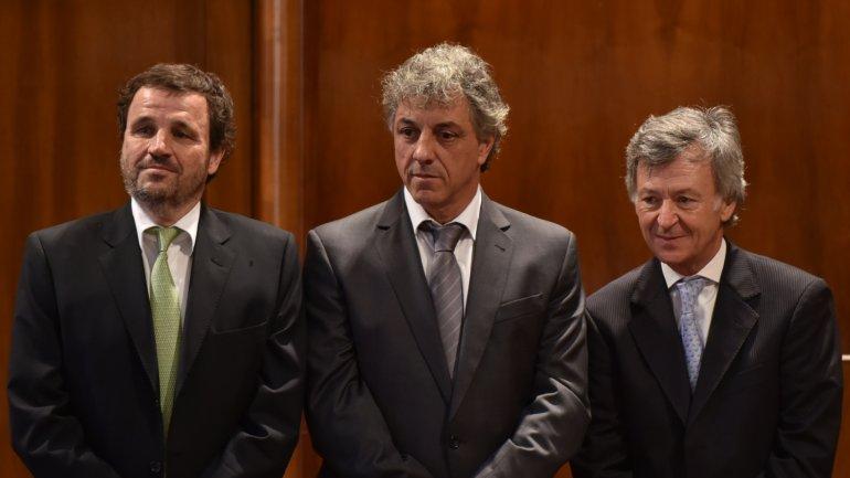 Pedro Lacoste, Gustavo Marconato y Marcelo Griffi.