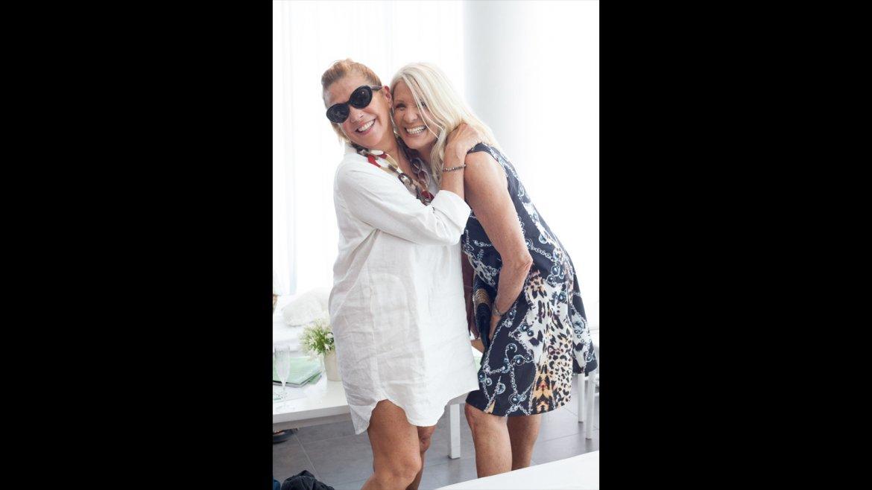 Marcela Tinayre y Evelyn Scheidl