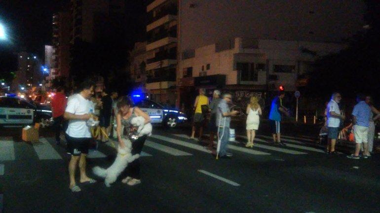 Vecinos sin luz hicieron un piquete en Palermo el sábado a la noche