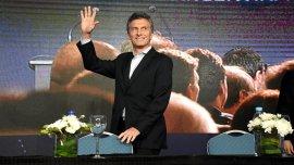 El presidente Macri, durante la clausura de la conferencia de la UIA, el 14 de diciembre.