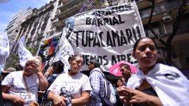 La agrupación de Milagro Sala protesta en Santa Fe y Carlos Pellegrini