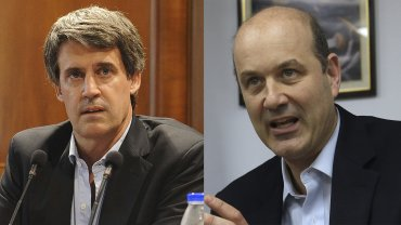 El ministro de Hacienda, Alfonso Prat-Gay, y el presidente del BCRA, Federico Sturzenegger, los hombres fuertes en el nuevo manejo de la economía.