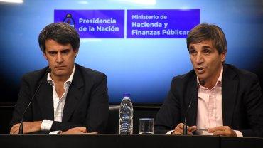Alfonso Prat-Gay y Nicolás Caputo