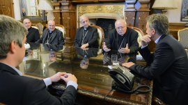 El presidente Macri recibe a la cúpula de la Iglesia