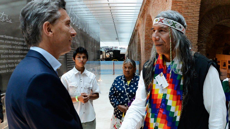 El líder de la comunidad Qom, Félix Díaz se reunió en el día de la fecha con el Presiente de la Nación, Mauricio Macri.