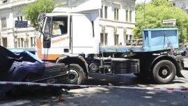Accidente fatal en el cruce de las calles Ingeniero Huergo y Belgrano.