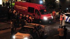 La unidad que trasladó el cuerpo de Alberto Nisman de su dpartamento en Puerto Madero.