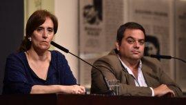 Gabriela Michetti y Jorge Triaca dieron una conferencia en Casa Rosada