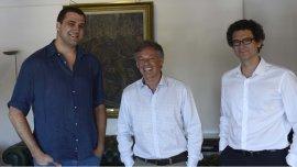 Tomás Pierucci, junto al ministro Francisco Cabrera y el secretario Pyme Mariano Mayer