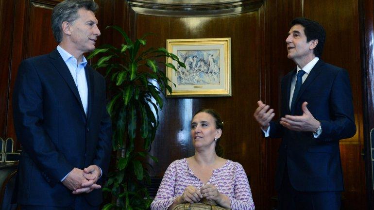 Mauricio Macri y Gabriela Michetti asistieron a la asunción de Carlos Melconian como presidente del BNA