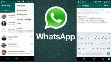 Listas de difusión en WhatsApp