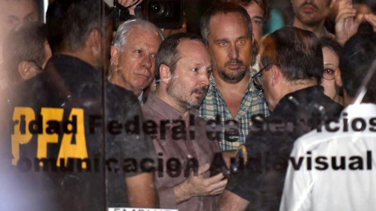 La semana pasada la Policía debió desalojar a Martín Sabbatella de la Afsca