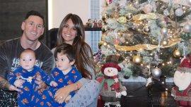 Lionel Messi pasó la Navidad en Rosario