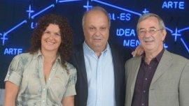 Gabriela Ricardes, Hernán Lombardi y Jorge Sigal