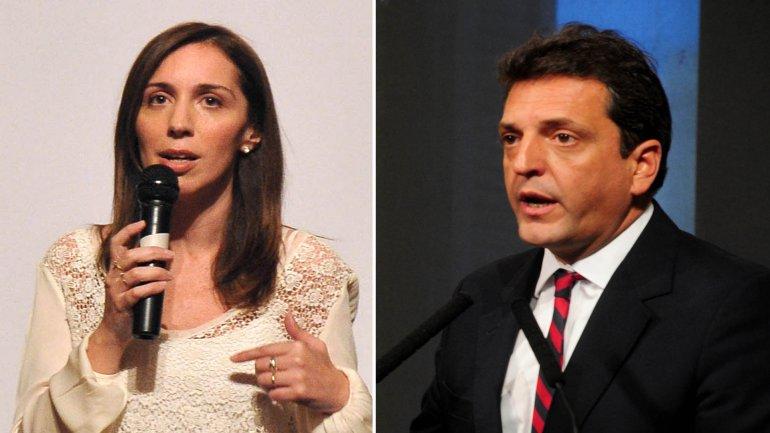 María Eugenia Vidal y Sergio Massa