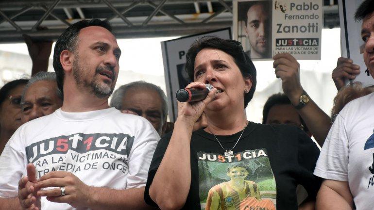 Paolo Menghini y María Luján Rey, padres de una de las víctimas (Imagen de archivo)