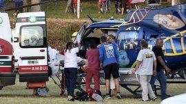 Uno de los heridos fue trasladado en helicóptero