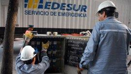 Operarios de Edesur (foto de archivo)
