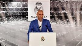 Zinedine Zidane fue presentado como nuevo entrenador del Real Madrid