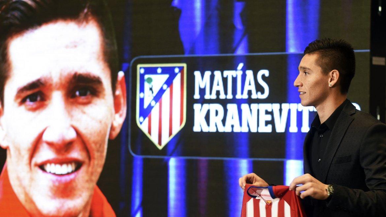 Matías Kranevitter fue presentado en el Atlético Madrid y aseguró estar capacitado para jugar ya