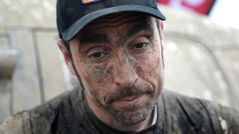El competidor español Nani Roma, al finalizar la segunda etapa del Rally Dakar 2016