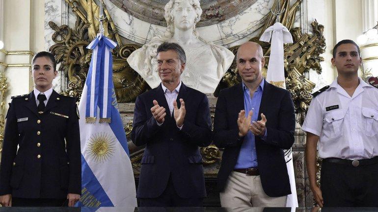 Mauricio Macri firmó el traspaso de la Policía Federal a la Ciudad la semana pasada