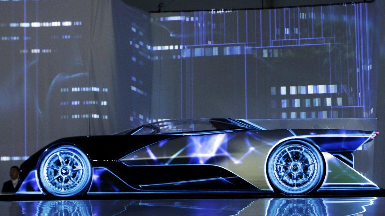 El FFZero1 de Faraday Future, un concept car de 1.000 caballos de fuerza. Es eléctrico y recuerda al Batimóvil