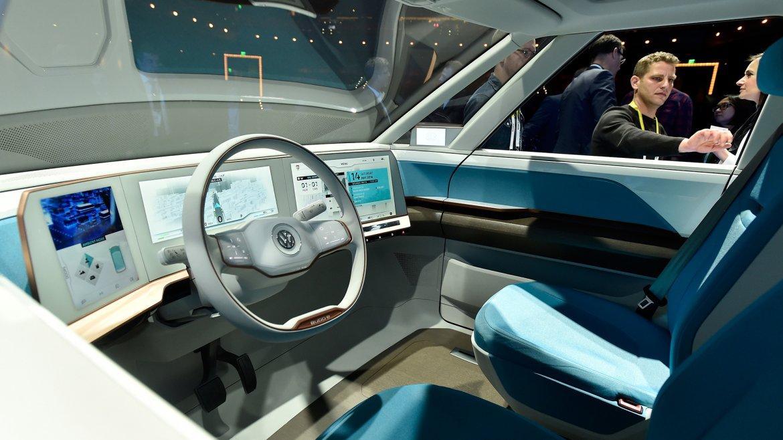 Interior del nuevo Volkswagen BUDD-e