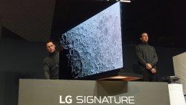 LG sorprendió con su línea Signature, donde una TV tiene 2,57 mm de espesor