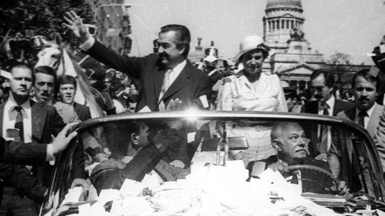 María Lorenza Barrenechea, cuando Raúl Alfonsín asumió la presidencia en 1983