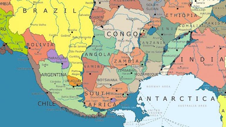 Mapa ilustrativo de Pangea según el periodista italiano Massino Pietrobon