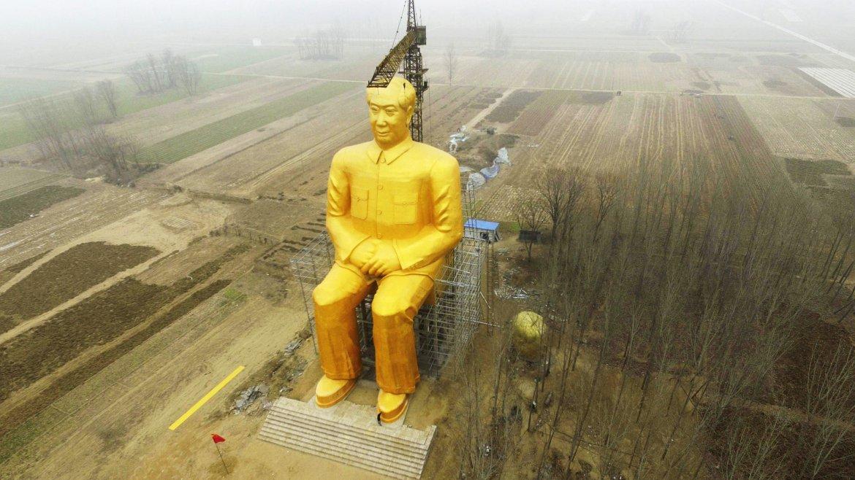 Estatua gigante de 36,6 metros de altura del presidente Mao erigida en Tongxu, en la provincia central de Henan, China