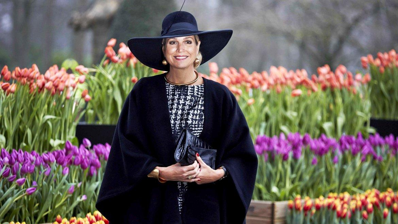 La reina Máxima de Holanda a su llegada a la ceremonia de entrega de los premios de horticultura en Lisse, Holanda