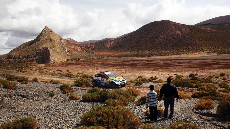 Cuarta etapa del rally Dakar 2016, en Purmamarca, Jujuy
