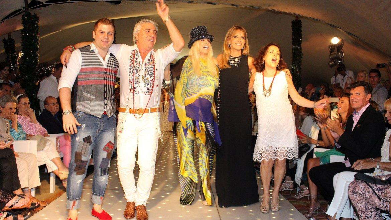 Susana Giménez y Patricia Della Giovampaola acompañaron a Carlo Di  Doménico, Susana Ortíz y su hijo Stefano en la gran pasarela esteña