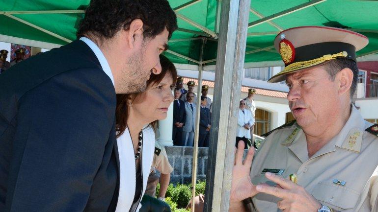 Patricia Bullrich y Eugenio Burzaco, en un acto de Gendarmería el pasado jueves.