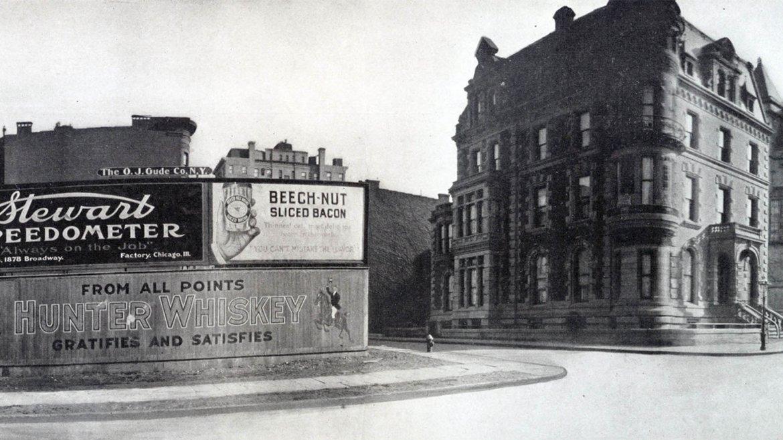 En 1911, la Quinta Avenida en la calle 93 Este fue el hogar de una serie de carteles publicitarios.