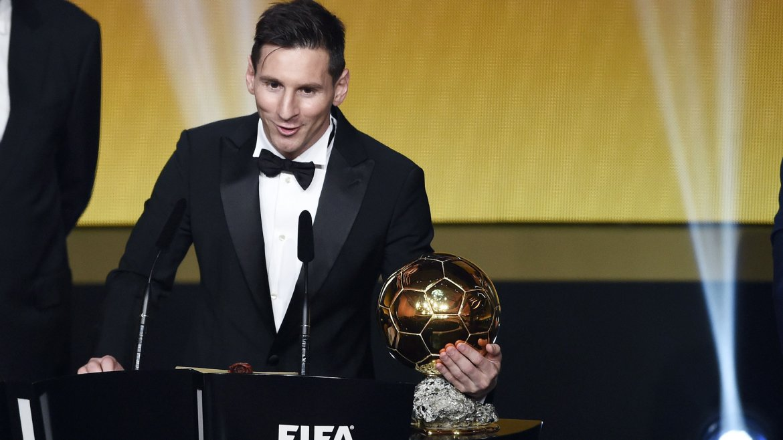 El argentino es el futbolista más galardonado en toda la historia del premio Balón de Oro, ahora con cinco, luego de haberlo conseguido cuatro veces consecutivas, entre 2009 y 2012