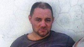 Cristian Lanatta, en el momento en que fue recapturado por la policía santafesina.