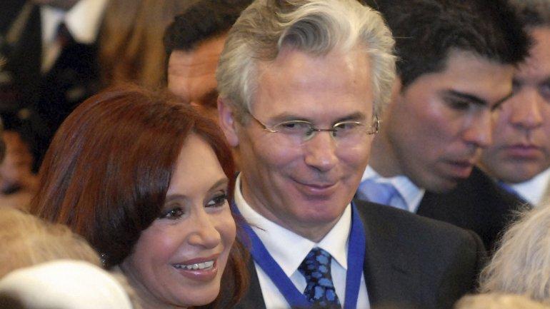 Baltasar Garzón, junto a Cristina Kirchner