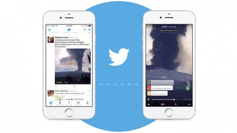 Periscope, directamente en Twitter