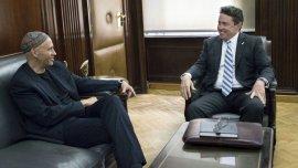 Sergio Bergman y Noah Mamet durante la reunión