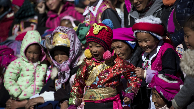Los niños también disfrutan de las festividades