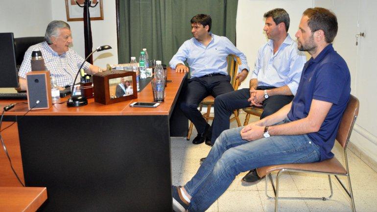 Gioja, Uñac, Bossio y Mazzón.