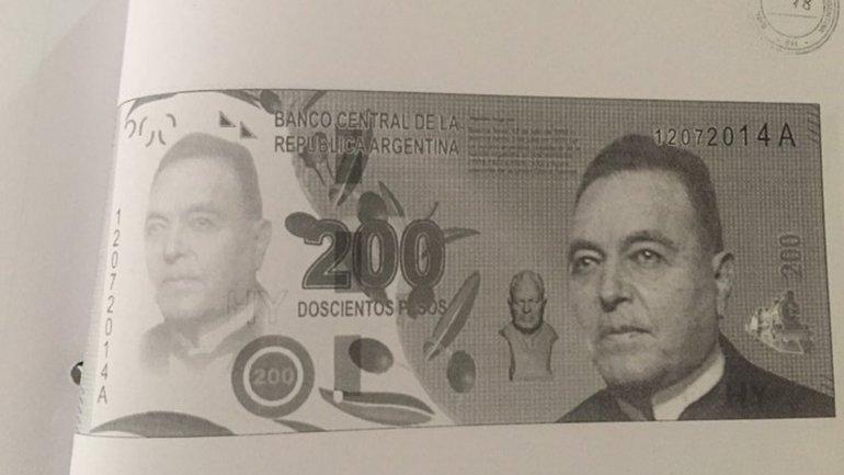 El ex presidente radical Hipólito Yrigoyen iba a estar en el de $200