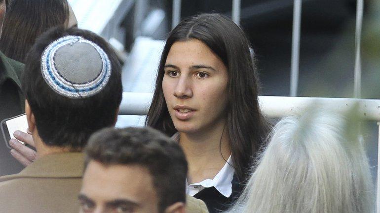 Iara Nisman, en los actos de homenaje a su padre