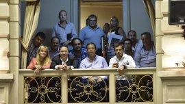 Intendentes del FpV siguieron desde los palcos de la Legislatura la votación del presupuesto bonaerense.