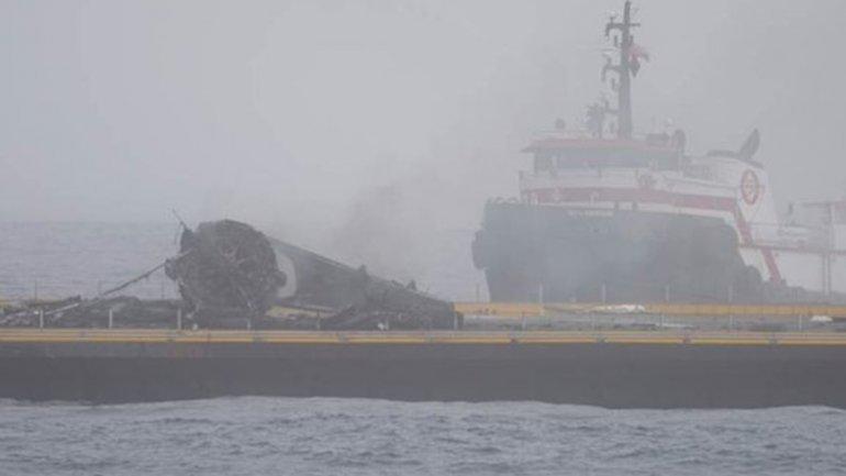Así quedó el Falcon 9 tras el fallido intento de aterrizaje sobre una barcaza en el Pacífico
