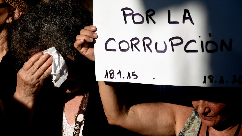 El encuentro comenzó a las 18:30, en la intersección de las avenidas del Libertador y Scalabrini Ortiz