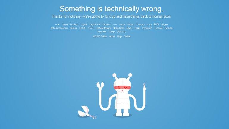 La imagen que ven muchos usuarios cuando intentan acceder (sin éxito) a Twitter